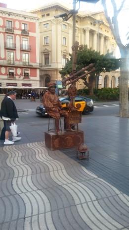 פסל חי על הרמבלה